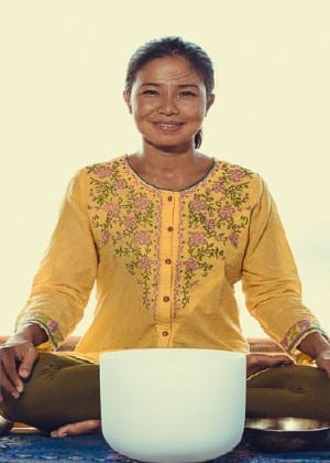 Crystal Singing Bowl Meditation by NITIKARN THACHINA in Phuket, Thailand