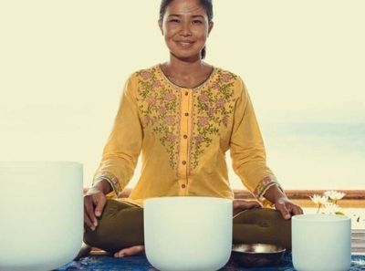 Singing Bowl Therapy is part of a a Typical Day on a Detox Program